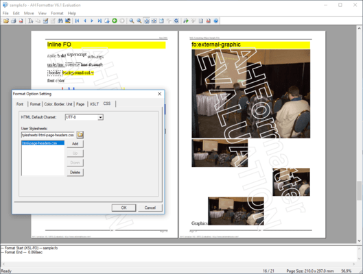 Captura de tela do AH CSS Formatter Lite