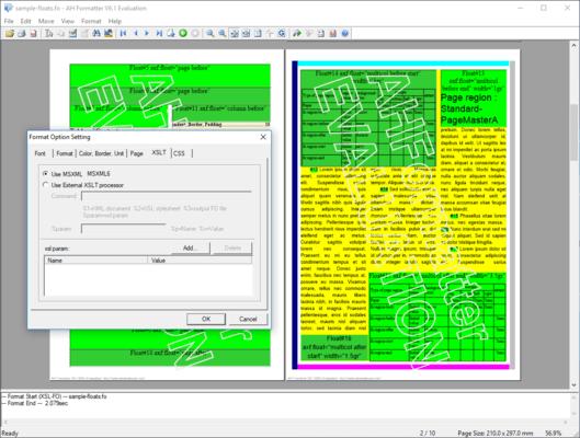 AH XSL Formatter Lite (英語版) のスクリーンショット