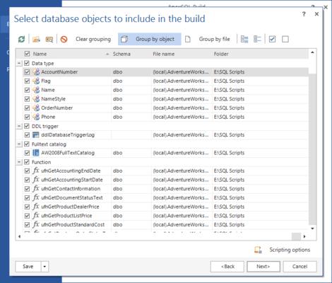 ApexSQL Build 的螢幕截圖