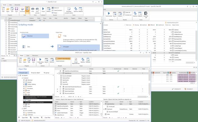 ApexSQL Developer (英語版) のスクリーンショット
