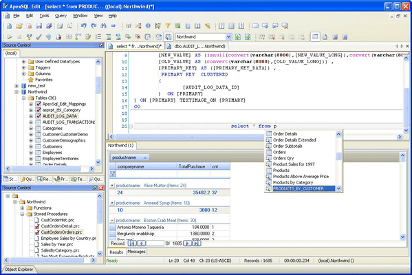 Screenshot of ApexSQL Edit