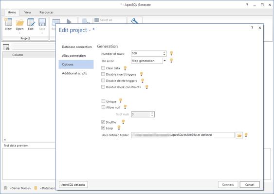 Screenshot of ApexSQL Generate