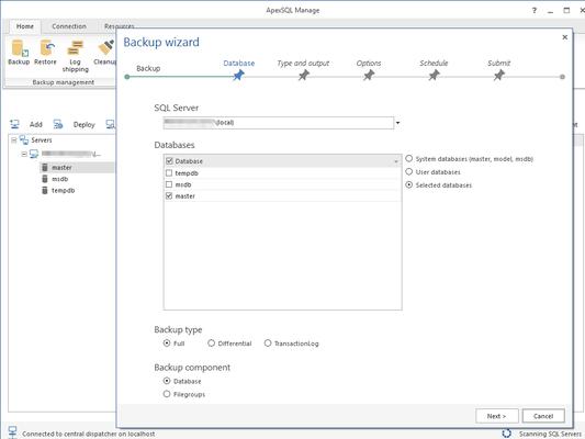 ApexSQL Manage 스크린샷