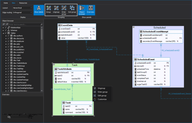 ApexSQL Model のスクリーンショット