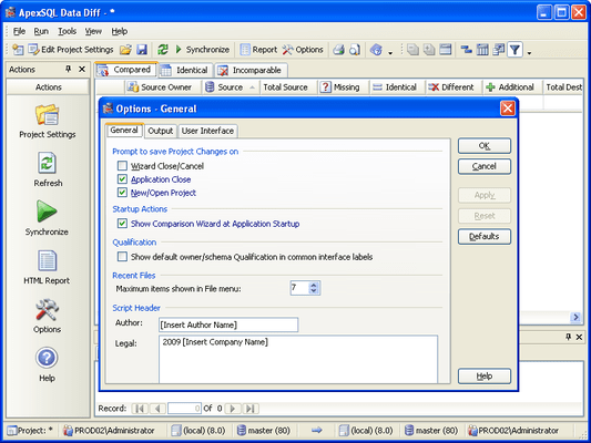Screenshot of ApexSQL Recovery Studio