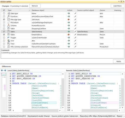 ApexSQL Source Control Releases