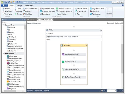 Screenshot of appCompass