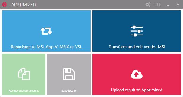 Screenshot of Apptimized Workspace