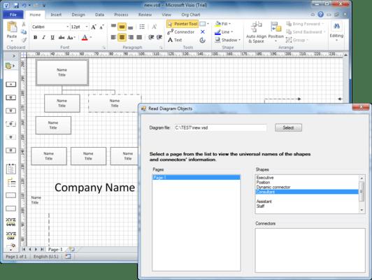 Screenshot of Aspose.Diagram for .NET