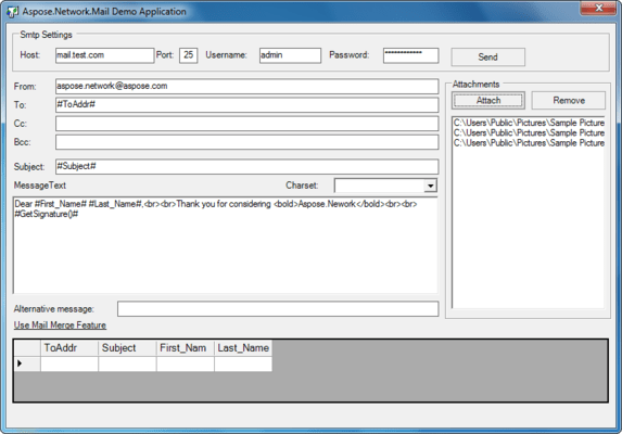 Screenshot of Aspose.Email for .NET