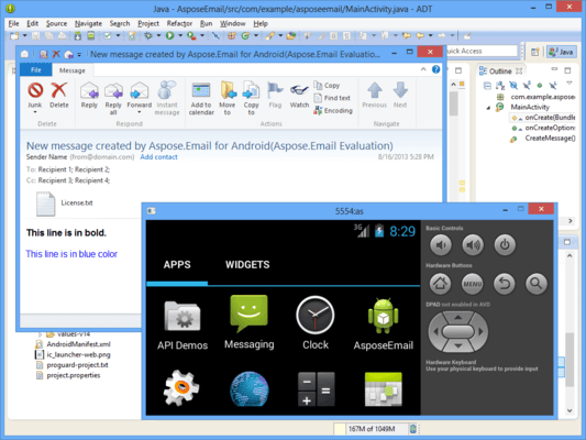 Screenshot of Aspose.Email Product Family