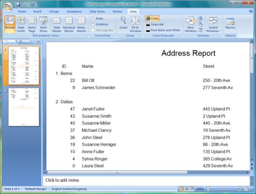 Screenshot of Aspose.Slides for JasperReports