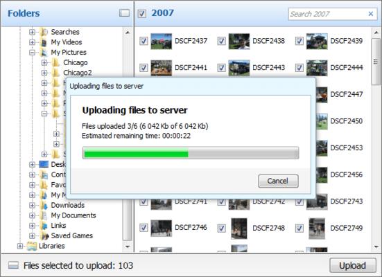 Screenshot von Aurigma Image Uploader Premium
