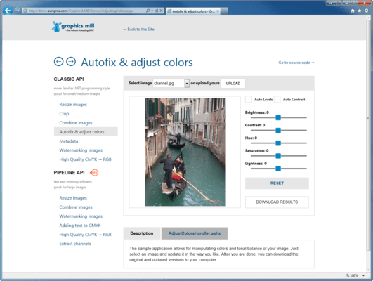 Screenshot of Graphics Mill