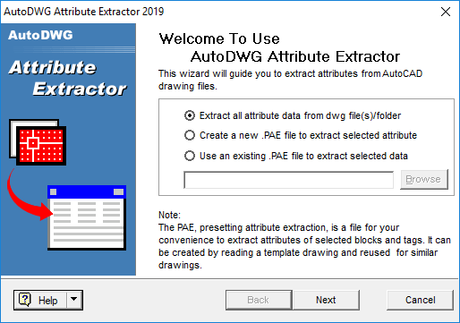 Screenshot of Attribute Extractor
