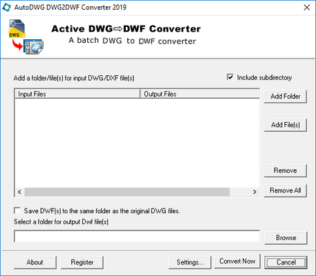 About DWG to DWF Converter