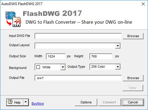 Screenshot of DWG to Flash Converter