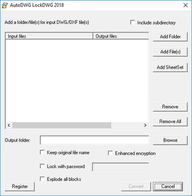 Screenshot of DWGLock
