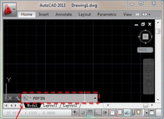 Captura de tela do PDFin AutoCAD Plug-in
