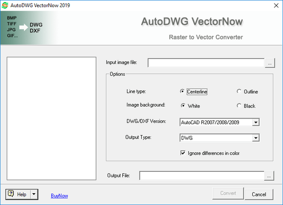 Screenshot of VectorNow (Raster to Vector Converter)