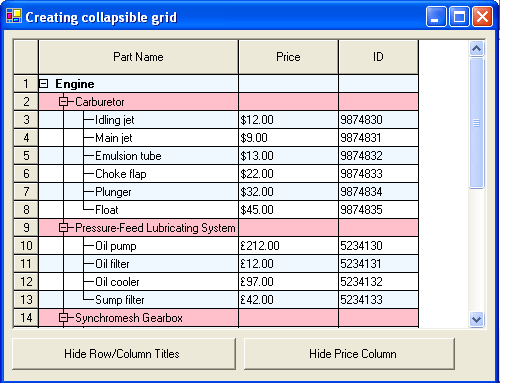 Screenshot of TList WinForms