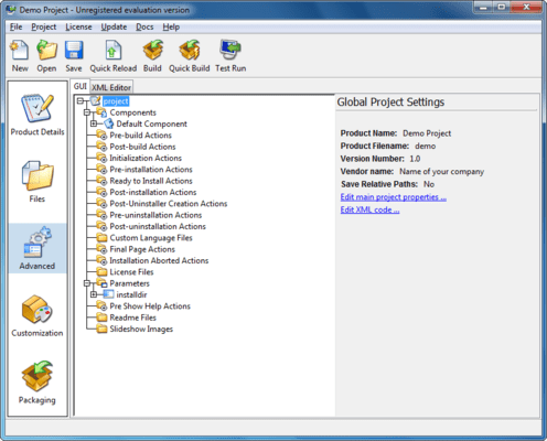 Screenshot of InstallBuilder for Qt for Linux