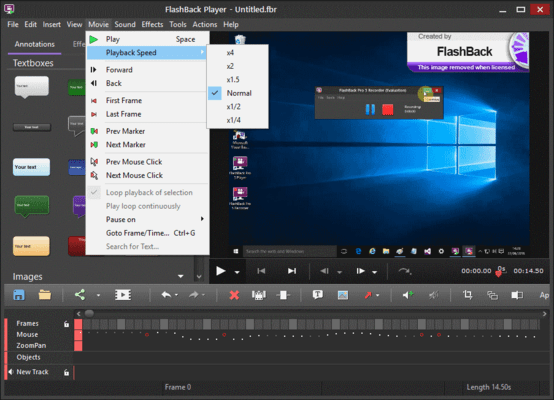 Screenshot of FlashBack Plus Russian Edition