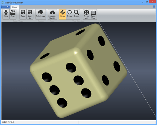 Screenshot of WebGL-Publisher