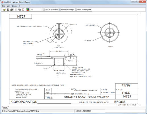 Screenshot of CAD DLL