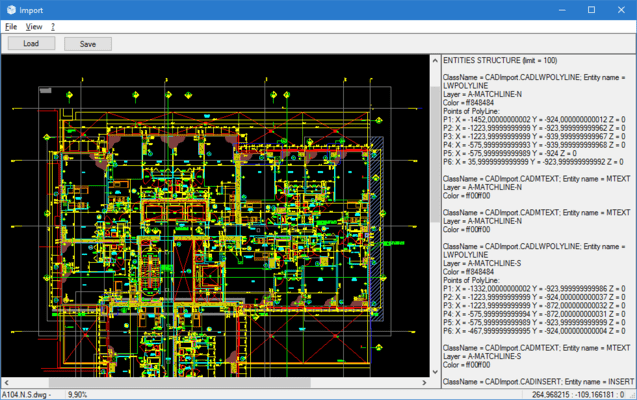 Screenshot of CAD .NET