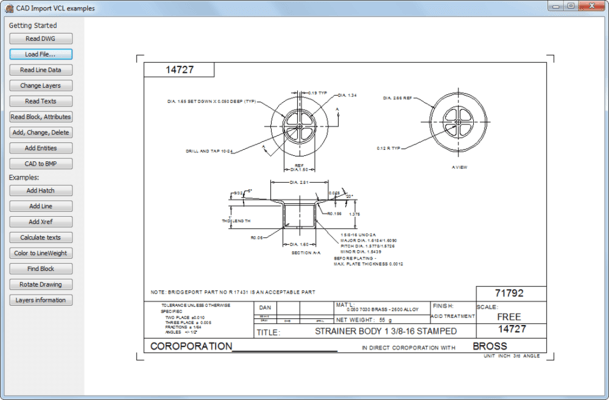 Screenshot of CAD VCL