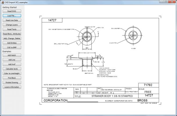 CAD VCL のスクリーンショット