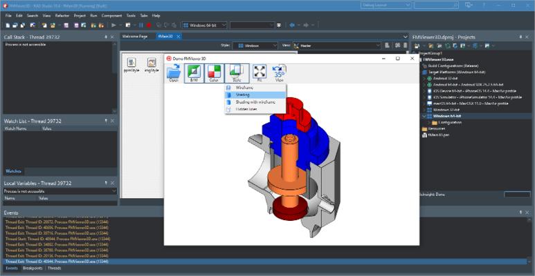 Screenshot of CAD VCL Multiplatform