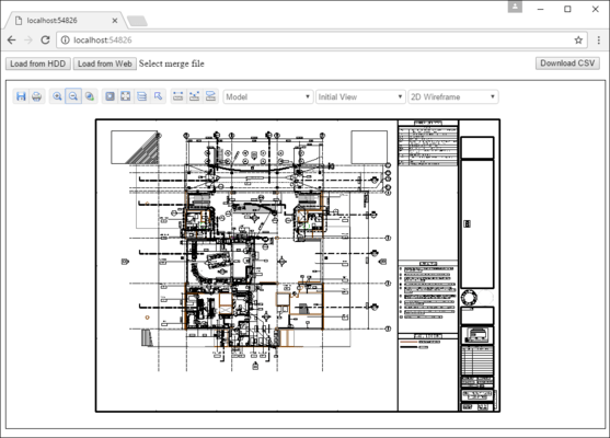 Screenshot of Web CAD SDK