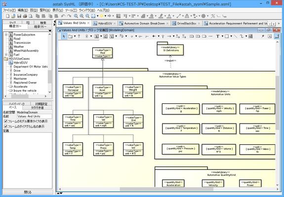 astah* SysML(日本語版) のスクリーンショット