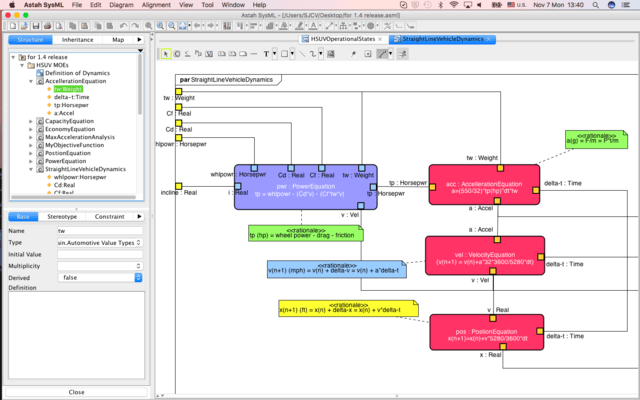 Screenshot of Astah SysML