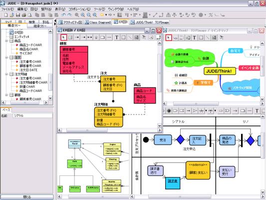 astah* professional(旧JUDE/Professional)(日本語版) のスクリーンショット