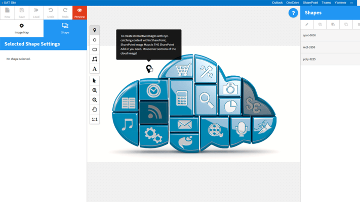 Screenshot of SharePoint Image Maps