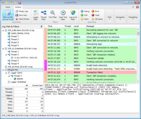 Screenshot of LogViewPlus