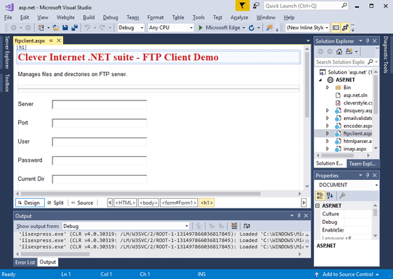 Screenshot of Clever Internet .NET Suite