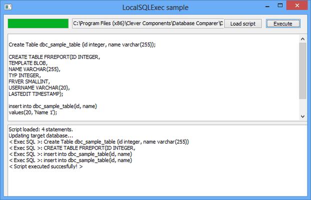 Database Comparer VCL for Delphi, C++Builder のスクリーンショット