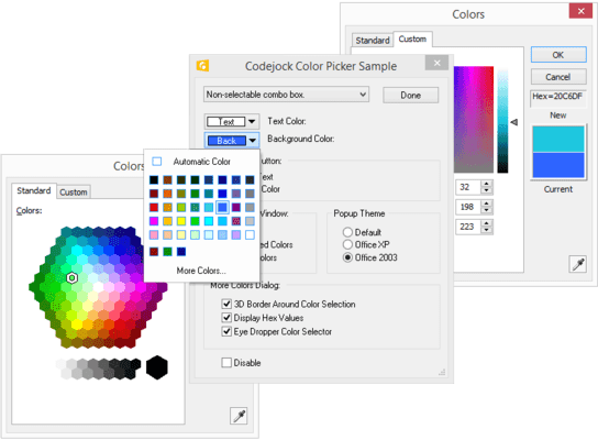 Screenshot of Codejock Controls Visual C++ MFC