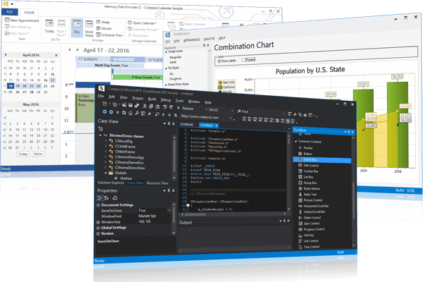 Screenshot of Codejock Suite Pro