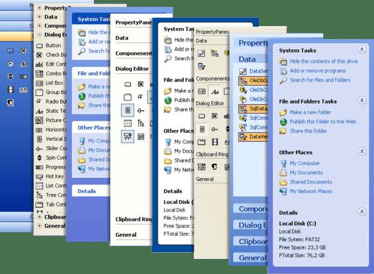 Screenshot of Codejock Task Panel ActiveX