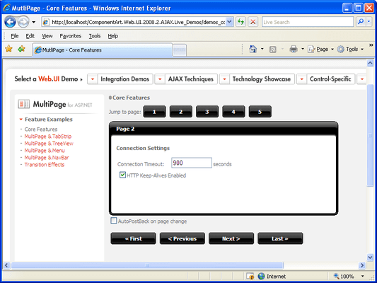ComponentArt MultiPage for ASP NET