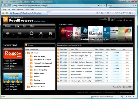 Screenshot of ComponentArt SOA.UI for .NET