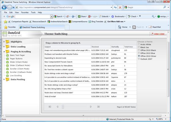 ComponentArt Web UI for ASP NET MVC