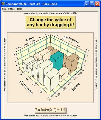 Capture d'écran de ComponentOne Chart
