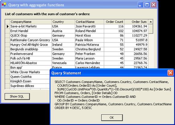 ComponentOne DataObjects for WinForms(英語版) のスクリーンショット