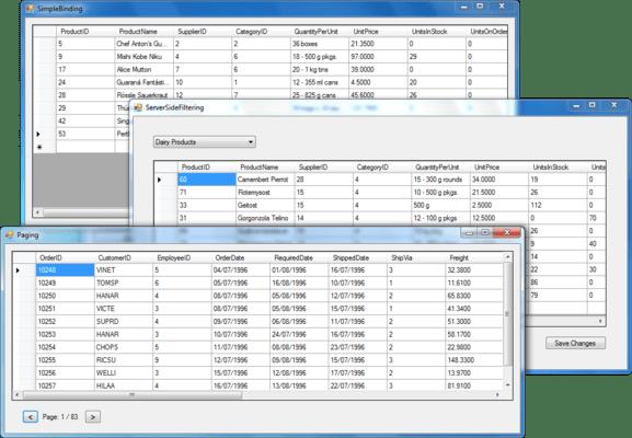 ComponentOne Studio for Entity Framework(英語版) のスクリーンショット